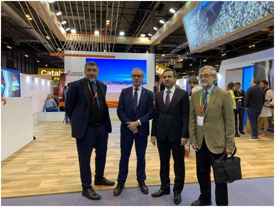 Fernando Molina, Josep Gisbert, Embajador Anar Maharramov y Enrique Gaspar