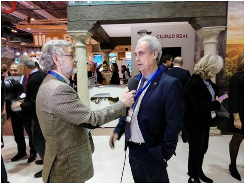 Con Manuel Artiñano Moraga Jefe del Servicio de turismo de  la Provincia de Ciudad Real