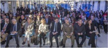 Alcaraz, Moratinos, Bravo, Fernández de la Vega, Puig, López del Pozo, Hergueta y Cardona en primera fila ayer en el comienzo del foro.