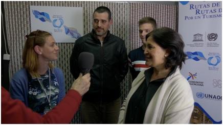 Marta Templado de Turiart y su equipo